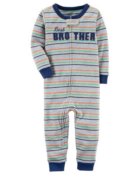 58c874b50 1-Piece Snug Fit Cotton Footless PJs