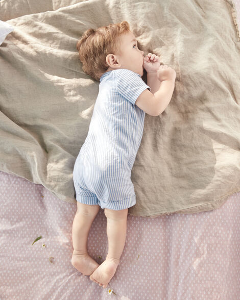 Certified Organic Polo-Style Romper