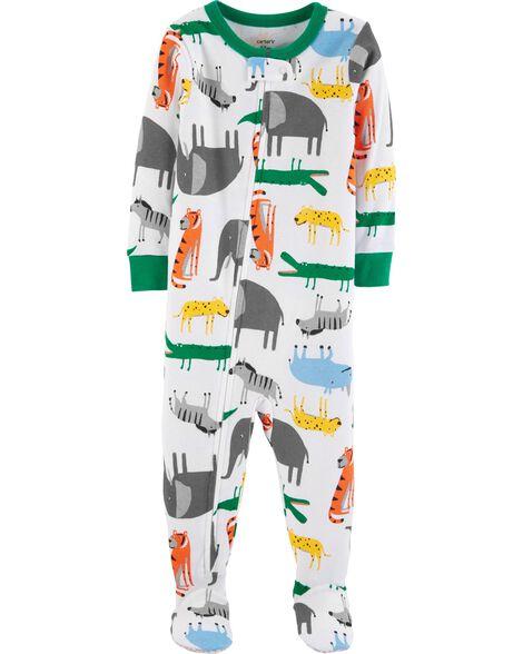 1-Piece Animals Snug Fit Cotton PJs