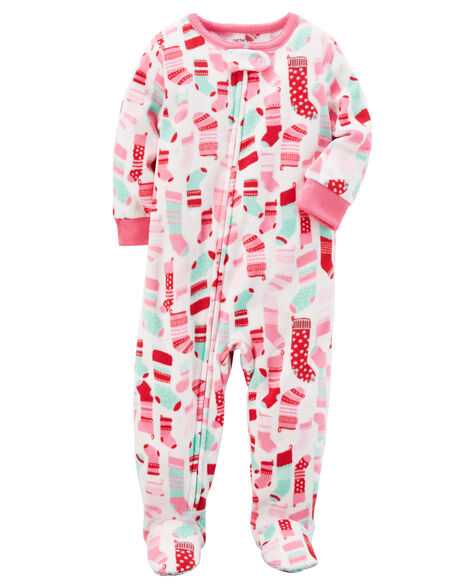 1446611811c3 1-Piece Christmas Fleece PJs