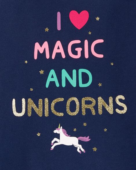 Glitter Unicorn Peplum Top