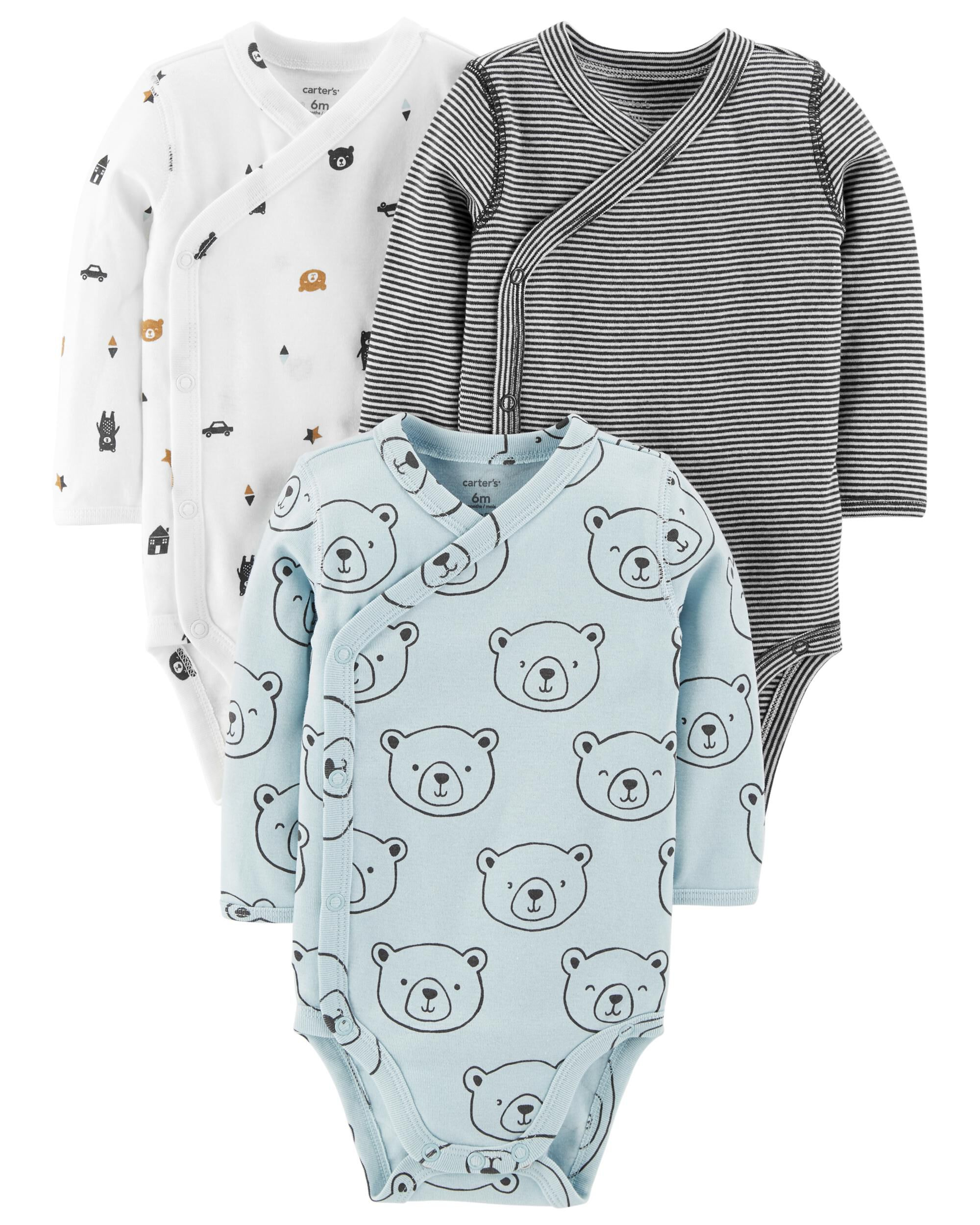 076aad47f 3-Pack Side-Snap Bodysuits | Carters.com