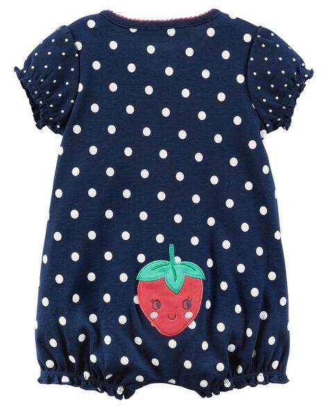 b714a2916ec ... Strawberry Snap-Up Romper