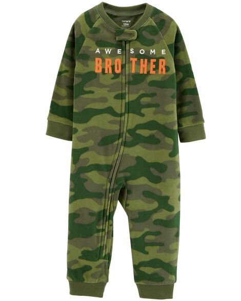 d7ee1a394fc8 1-Piece Awesome Brother Fleece Footless PJs