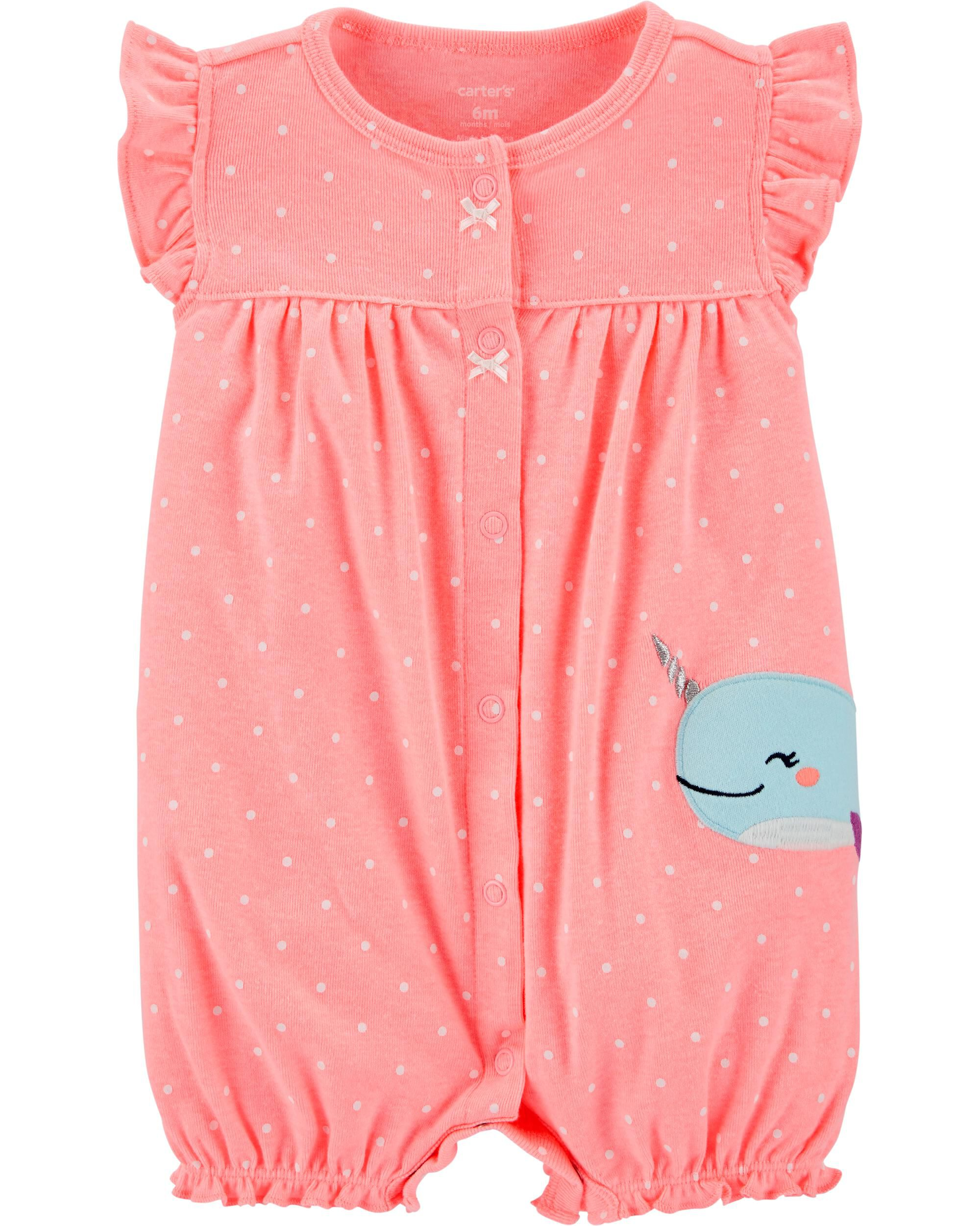 *CLEARANCE* Narwhal Snap-Up Romper