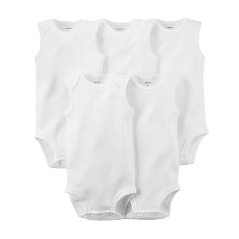 eea117cd1 5-Pack Sleeveless Bodysuits | Carters.com