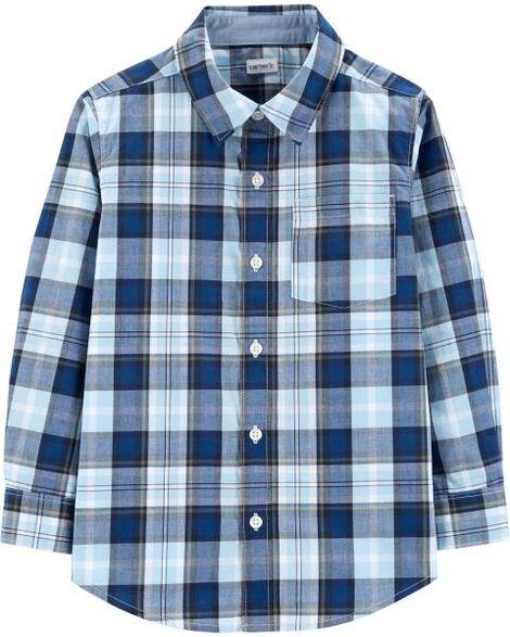 27d1918987 Plaid Poplin Button-Front Shirt | Carters.com