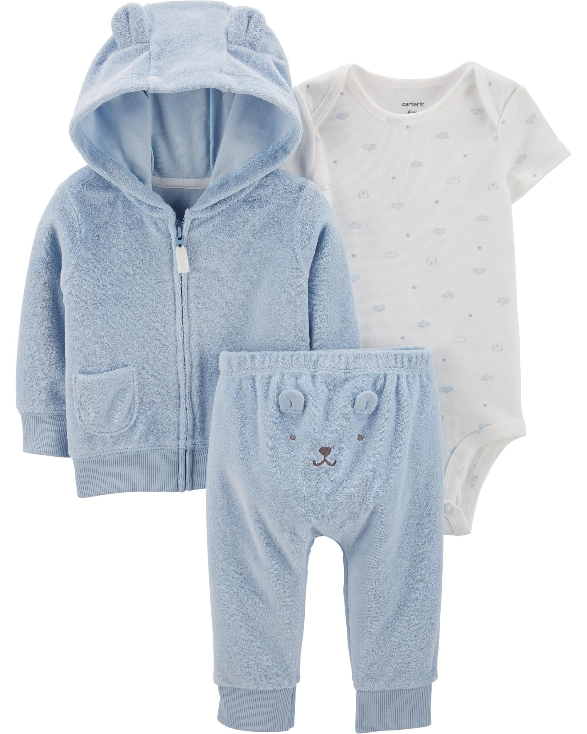 *CLEARANCE* 3-Piece Terry Little Jacket Set