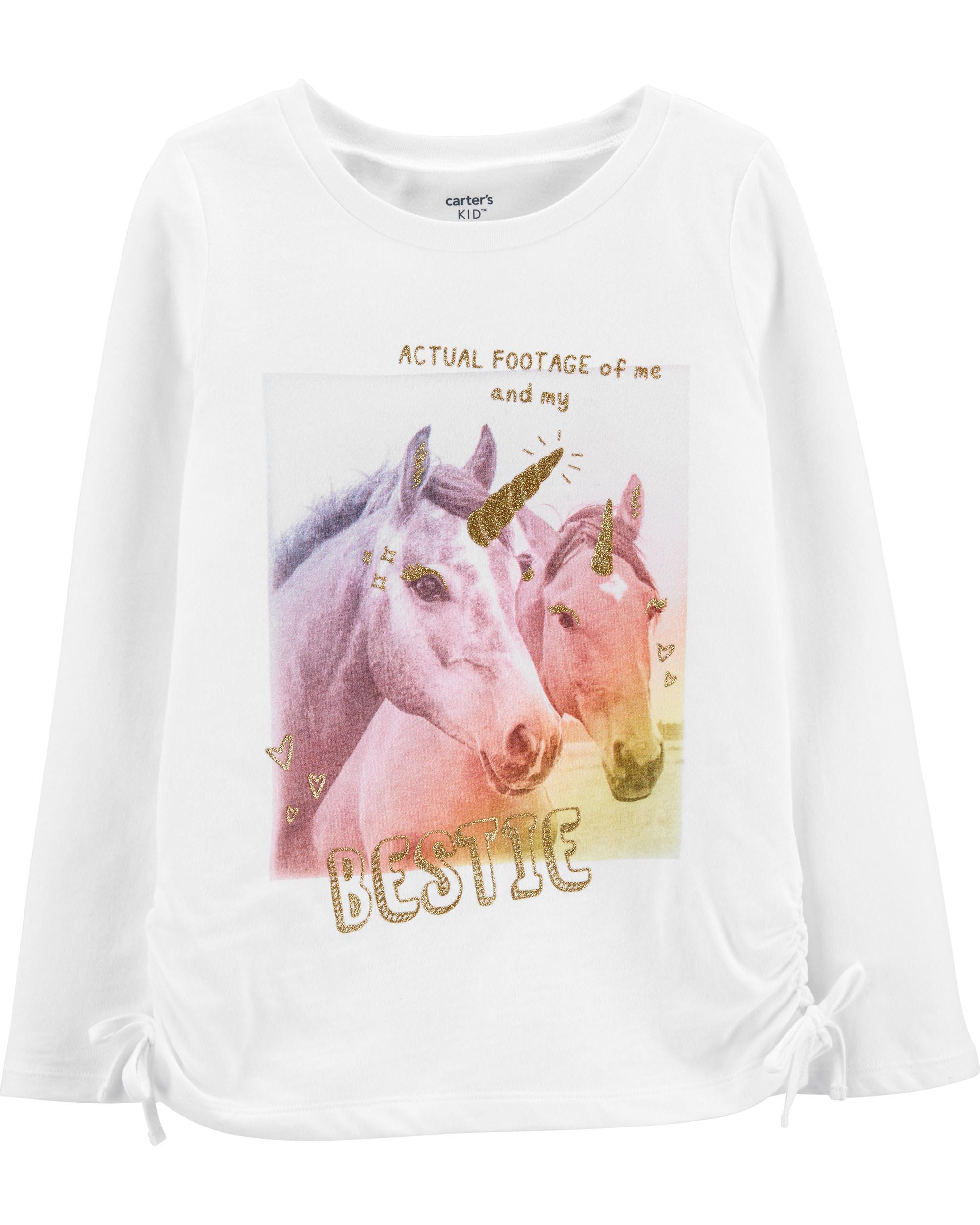 *CLEARANCE* Glitter Bestie Unicorns Jersey Tee