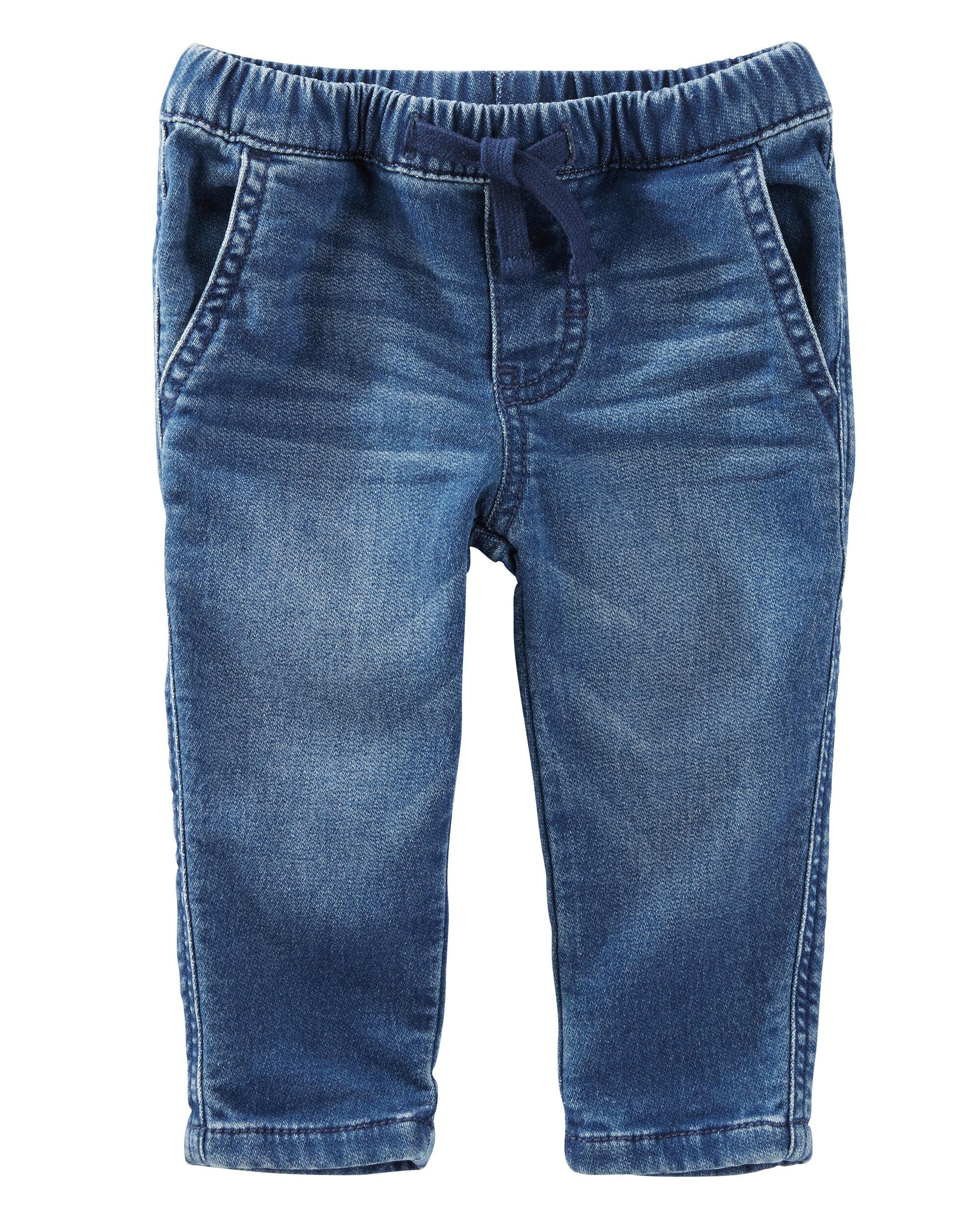 Baby Boy Pull On Knit Like Denim Pants Oshkosh Com