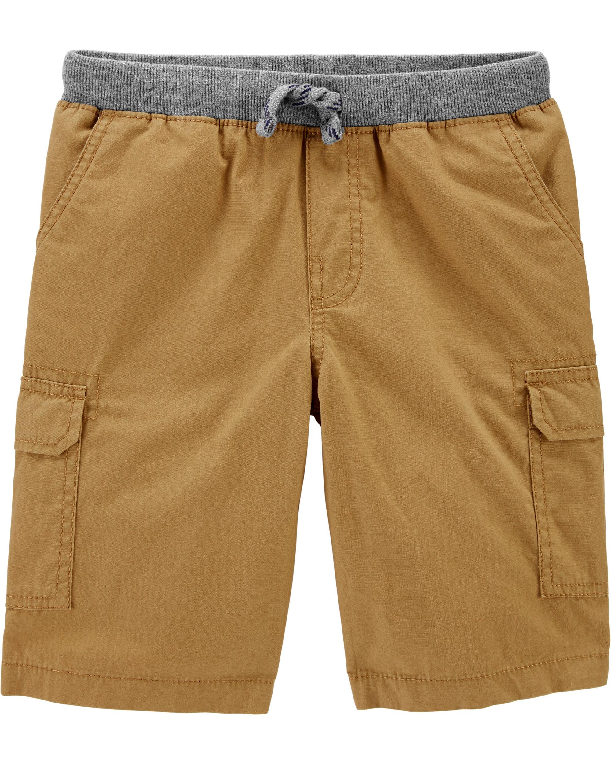 Carters Baby Boys Pull-On Ribbed-Waist Cargo Shorts