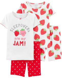 4-Piece Strawberry Snug Fit Cotton PJs 2b0806bce