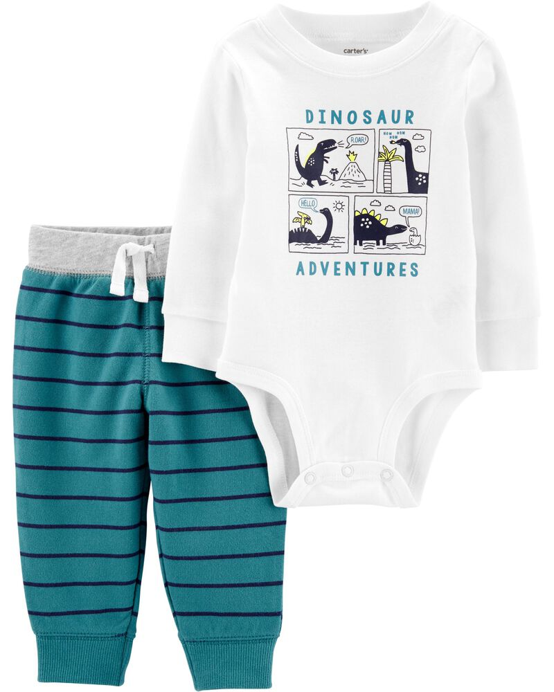 Baby Boy Clothes 2 Piece Set Several Sizes 6M,9M,24M Dinosaur Blue Carter/'s  NEW