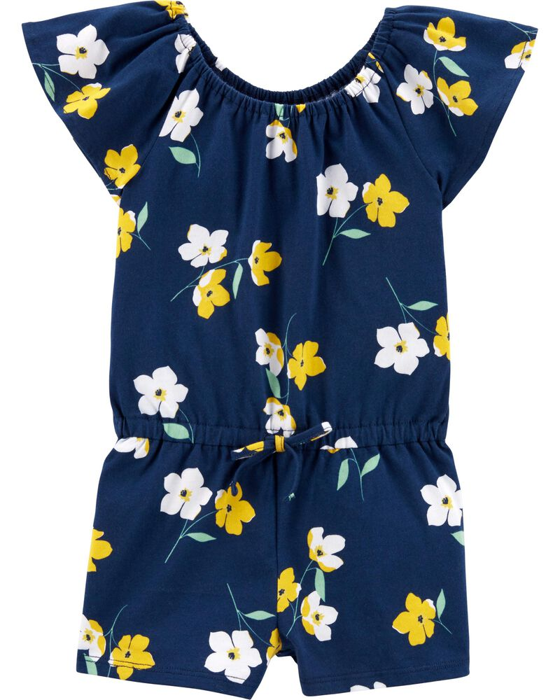 Baby Girls Free Shipping Carter/'s® Sleeveless Floral Romper NWT