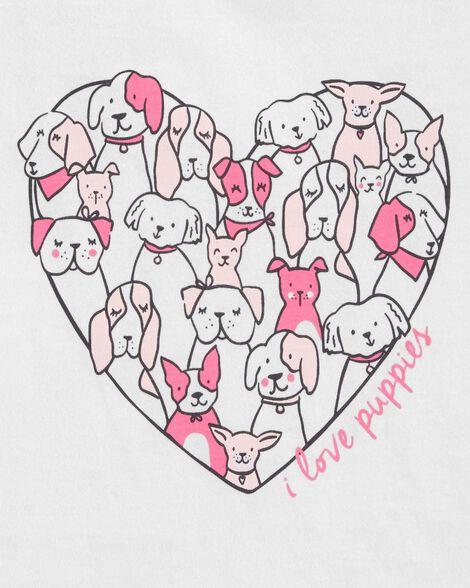 I Love Puppies Jersey Tee