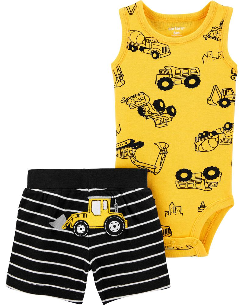 Carter/'s 5PC Boys Construction BodySuits Size 18 Months  MSRP $26.00