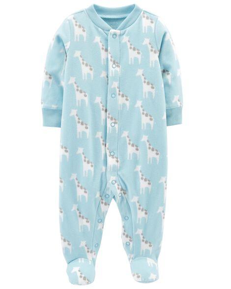 591a3cc5e52d Giraffe Snap-Up Fleece Sleep   Play