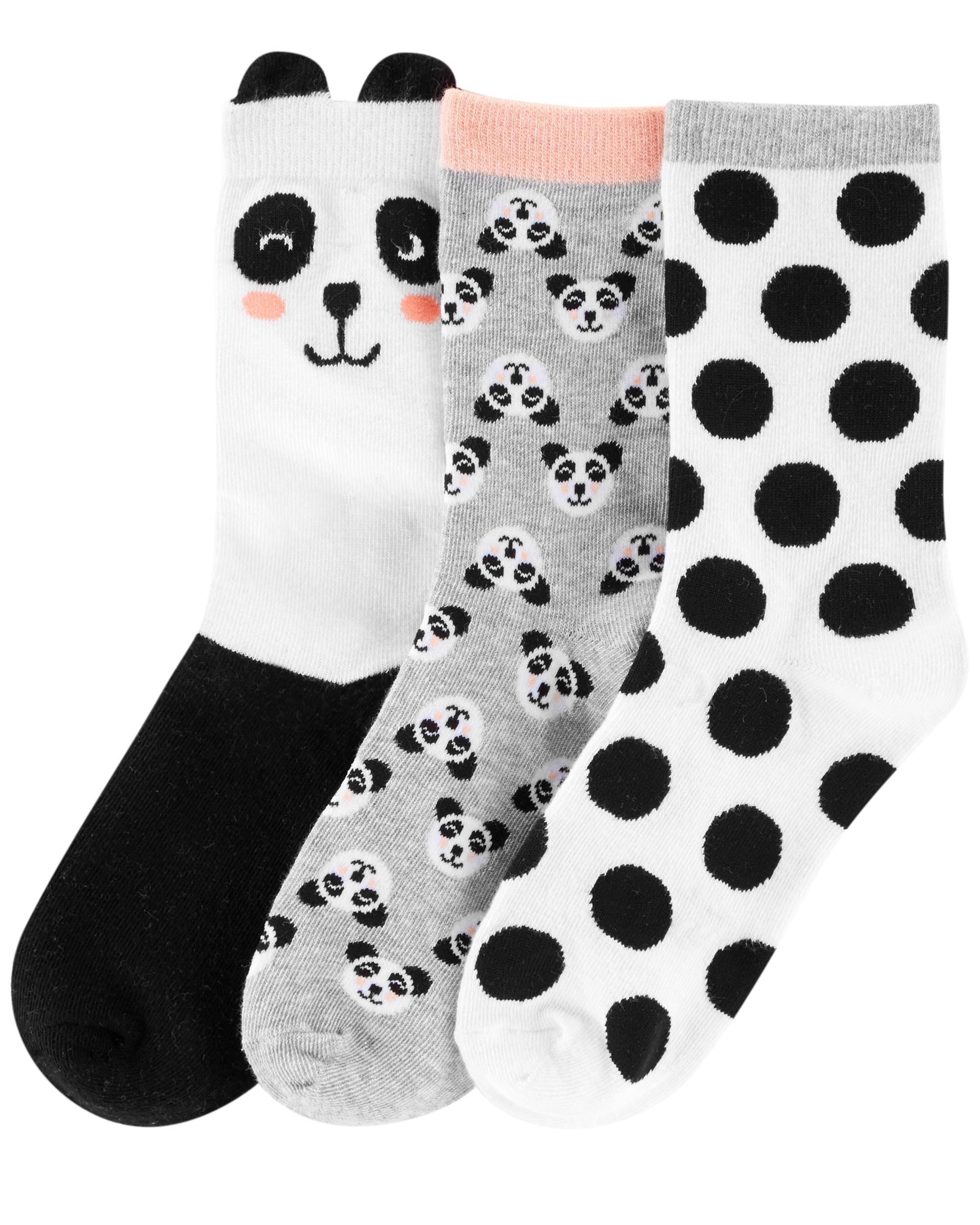 Carter/'s Little Girls 3-Pack Polka Dot Socks New