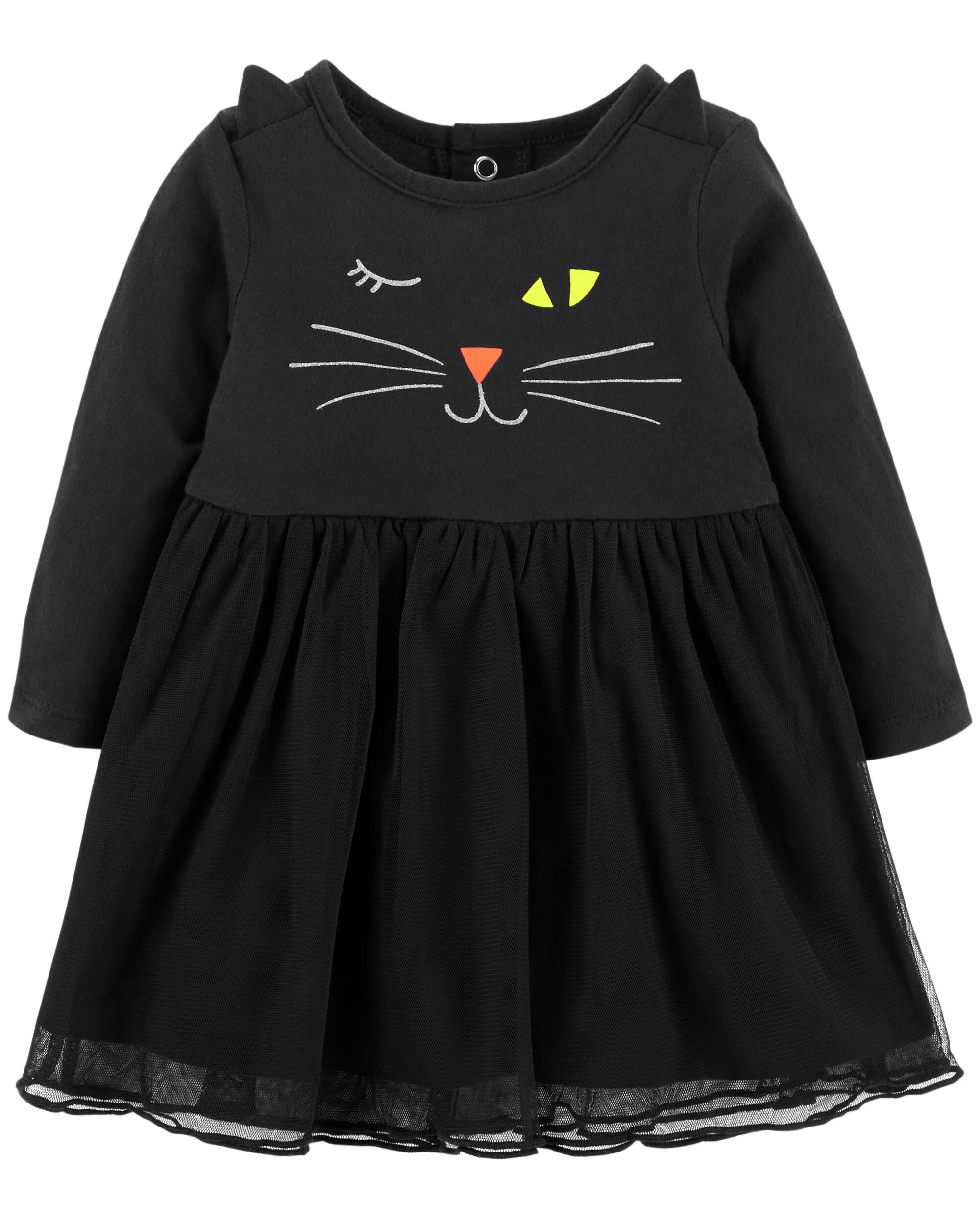 Girls Cat Face Meow with Ears Jeans for Girls and Toddlers Size 4T to 14
