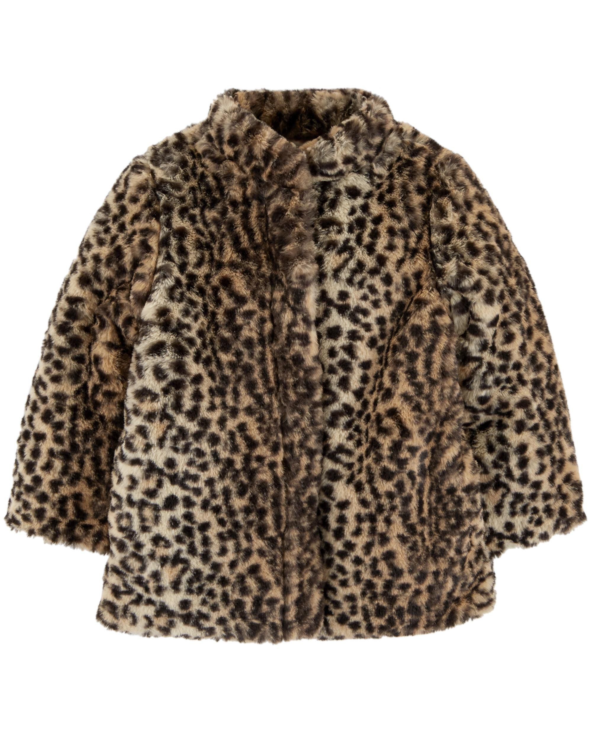 cc19ab5528d4 Cheetah Faux Fur Coat