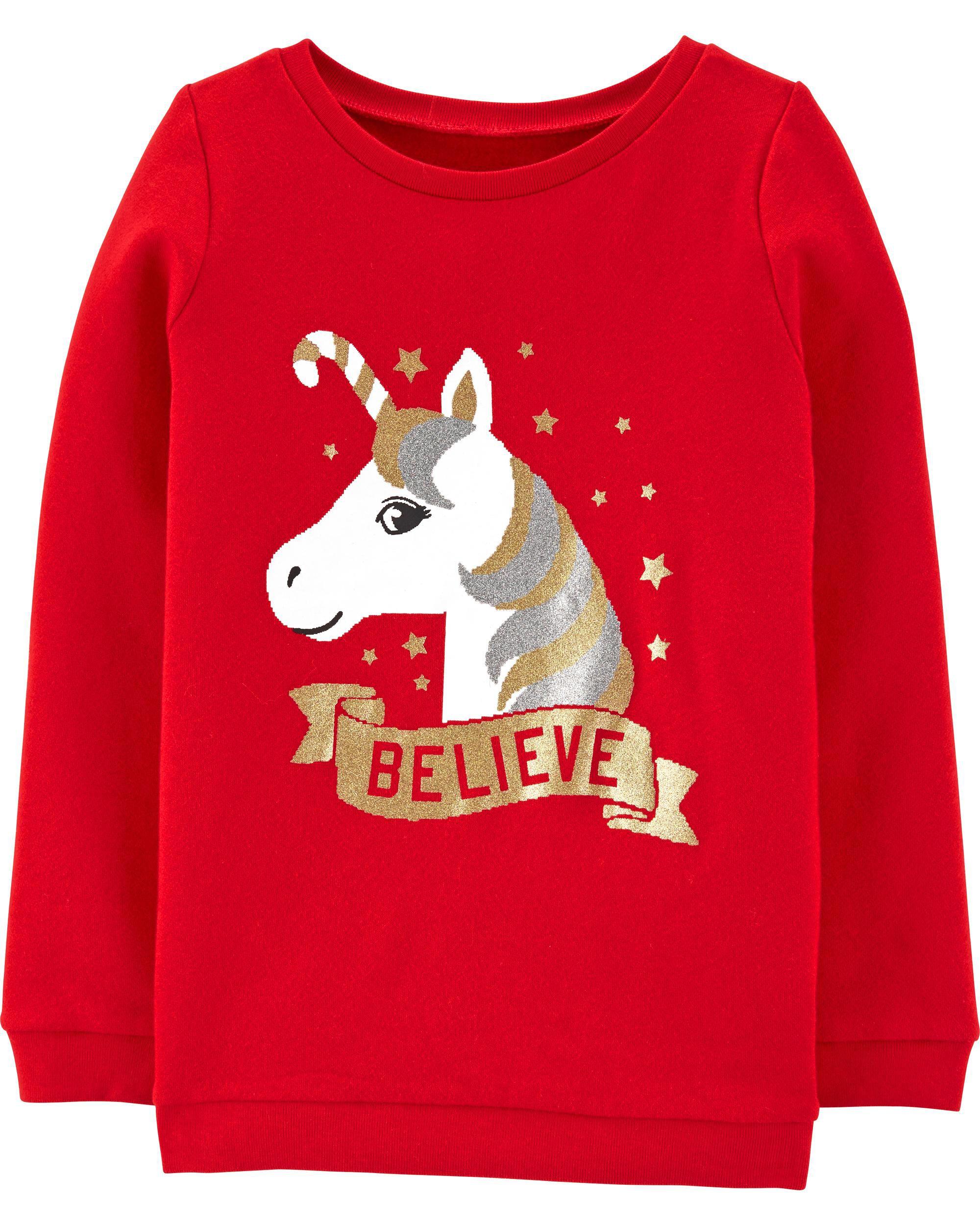 *DOORBUSTER* Unicorn Christmas Crew Neck Sweatshirt