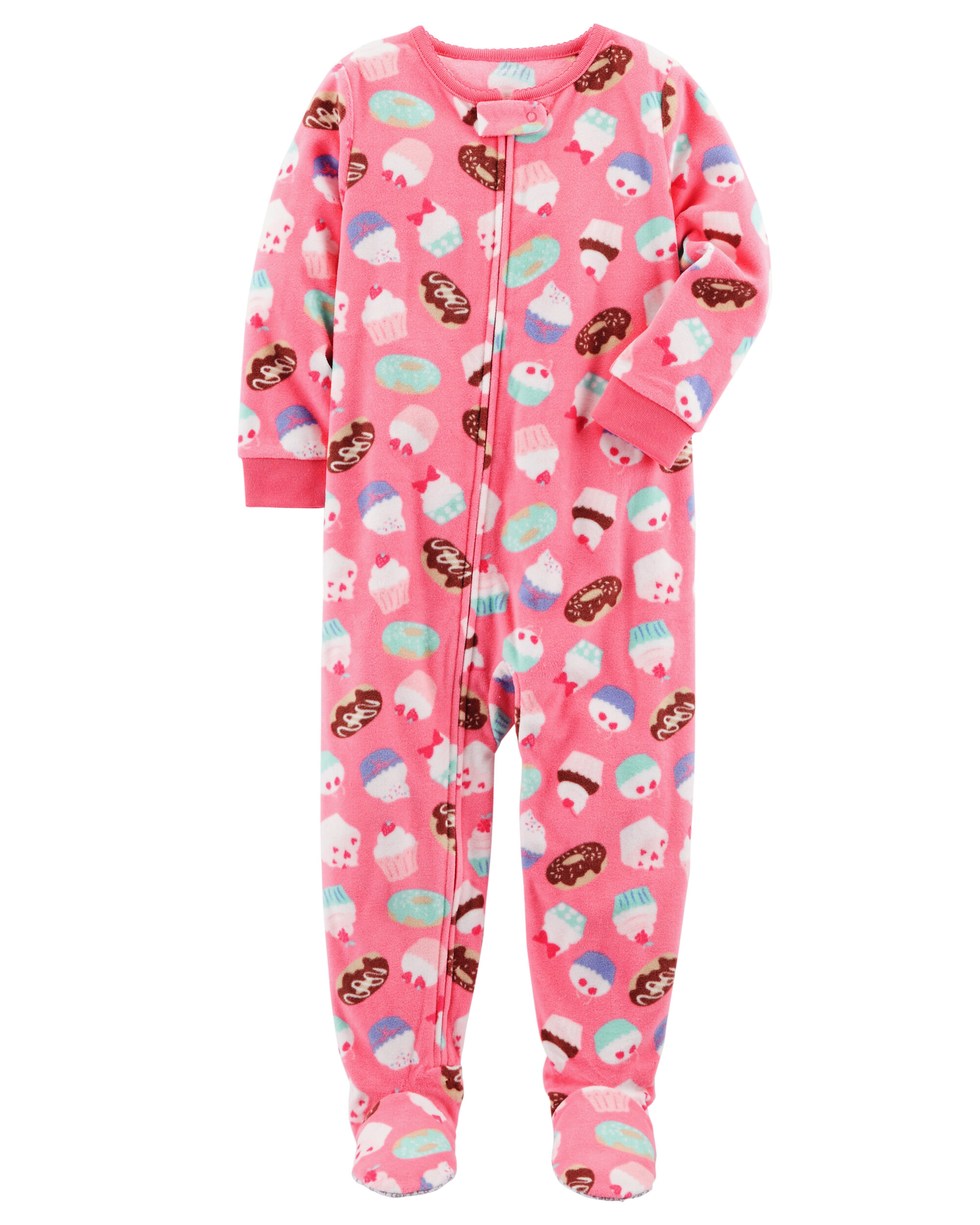 1-Piece Cupcake Fleece PJs | Carters.com