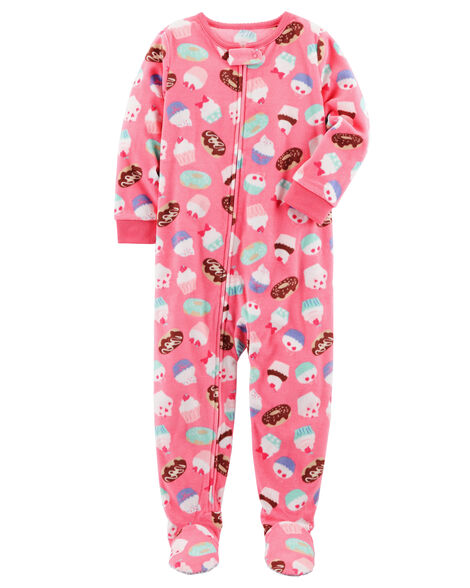 518c4494de32 1-Piece Cupcake Fleece PJs