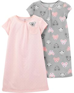 bb04ef35bbd4 2-Pack Koala Nightgowns