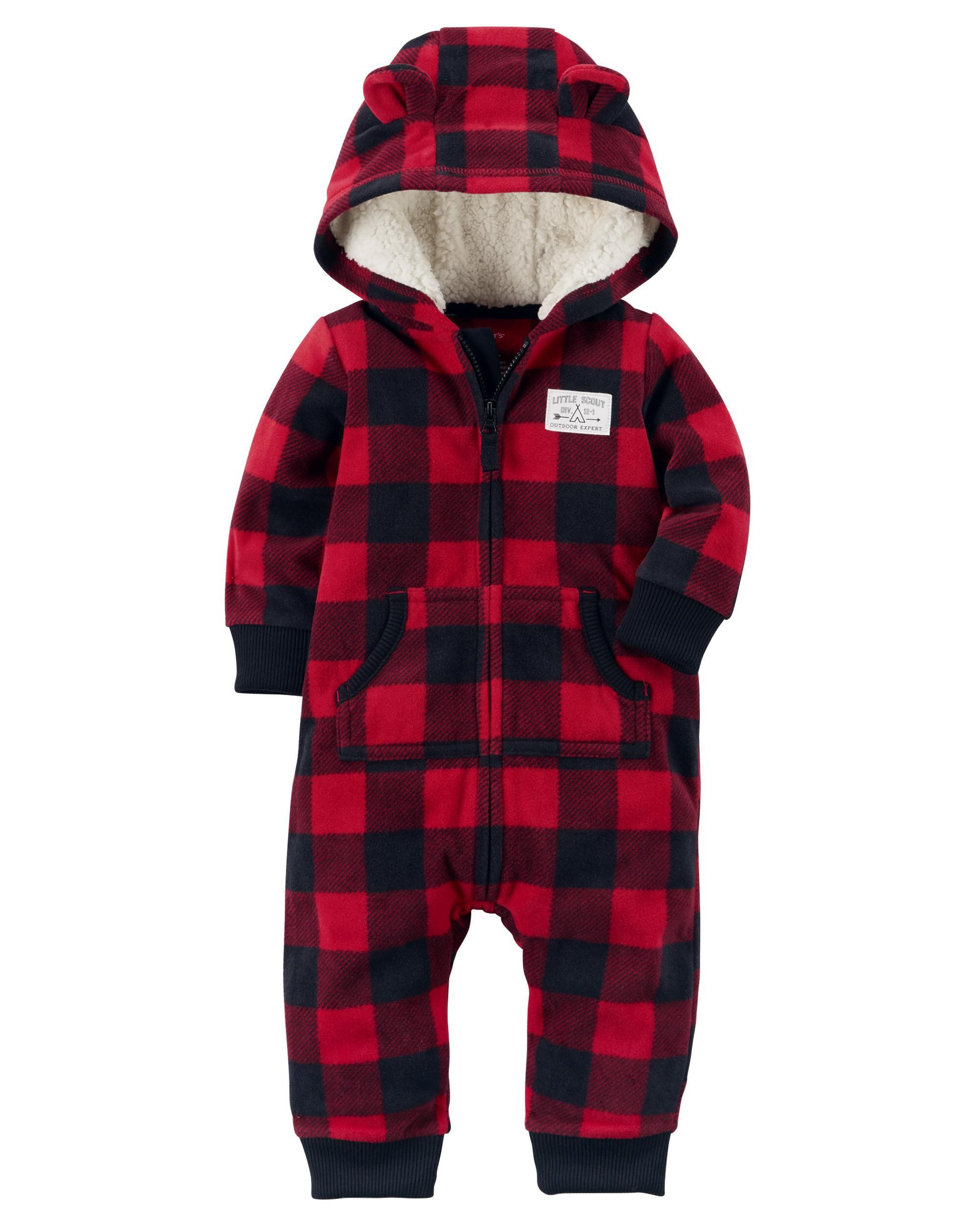 Buffalo Check Fleece Jumpsuit   Carters.com