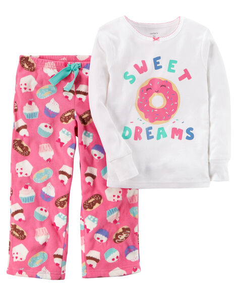 2e077e0ed Carters Little Girls 2 Piece Fleece Sweet Dreams Pajama Set Size 6