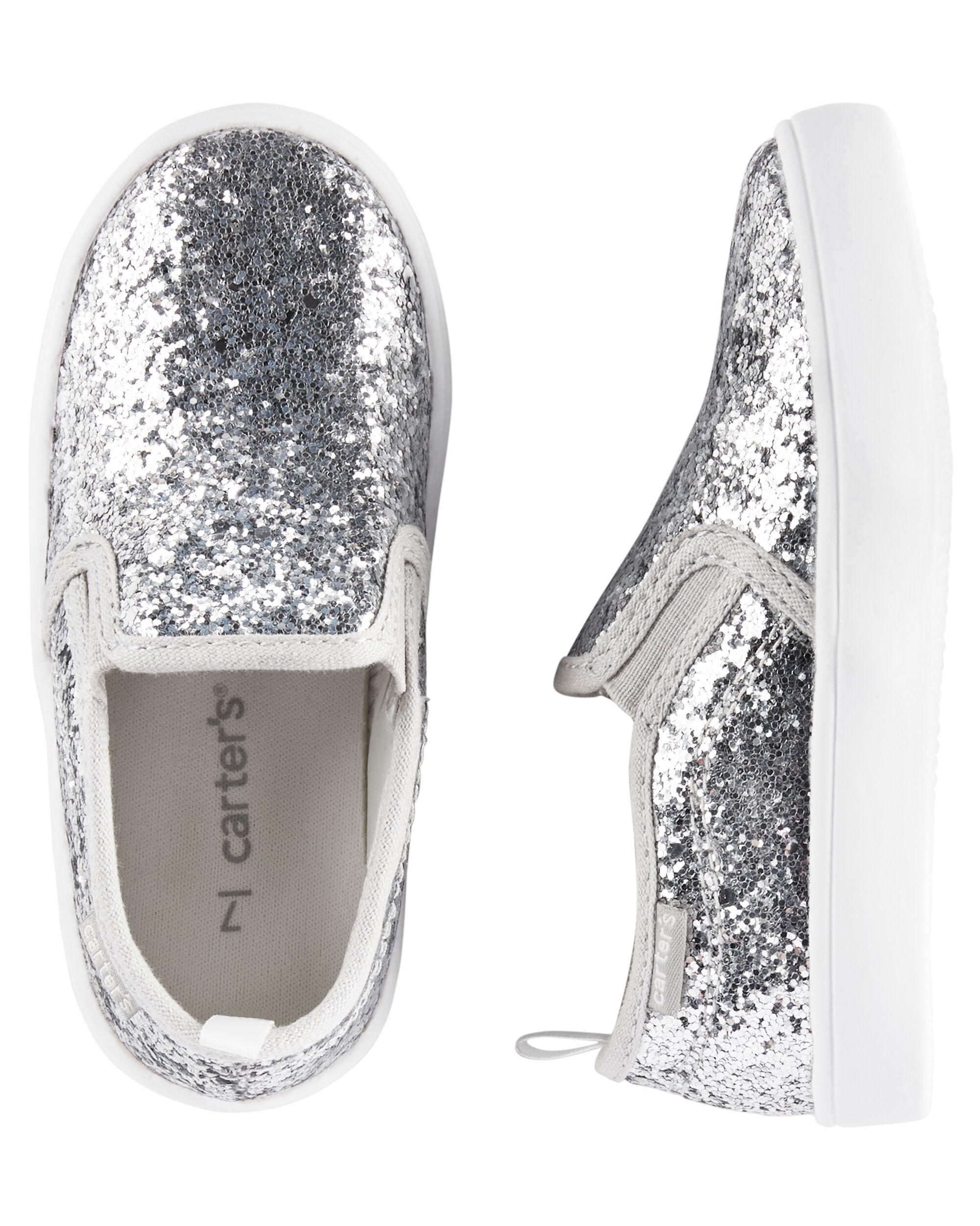 Glitter Slip-On Sneakers | carters.com