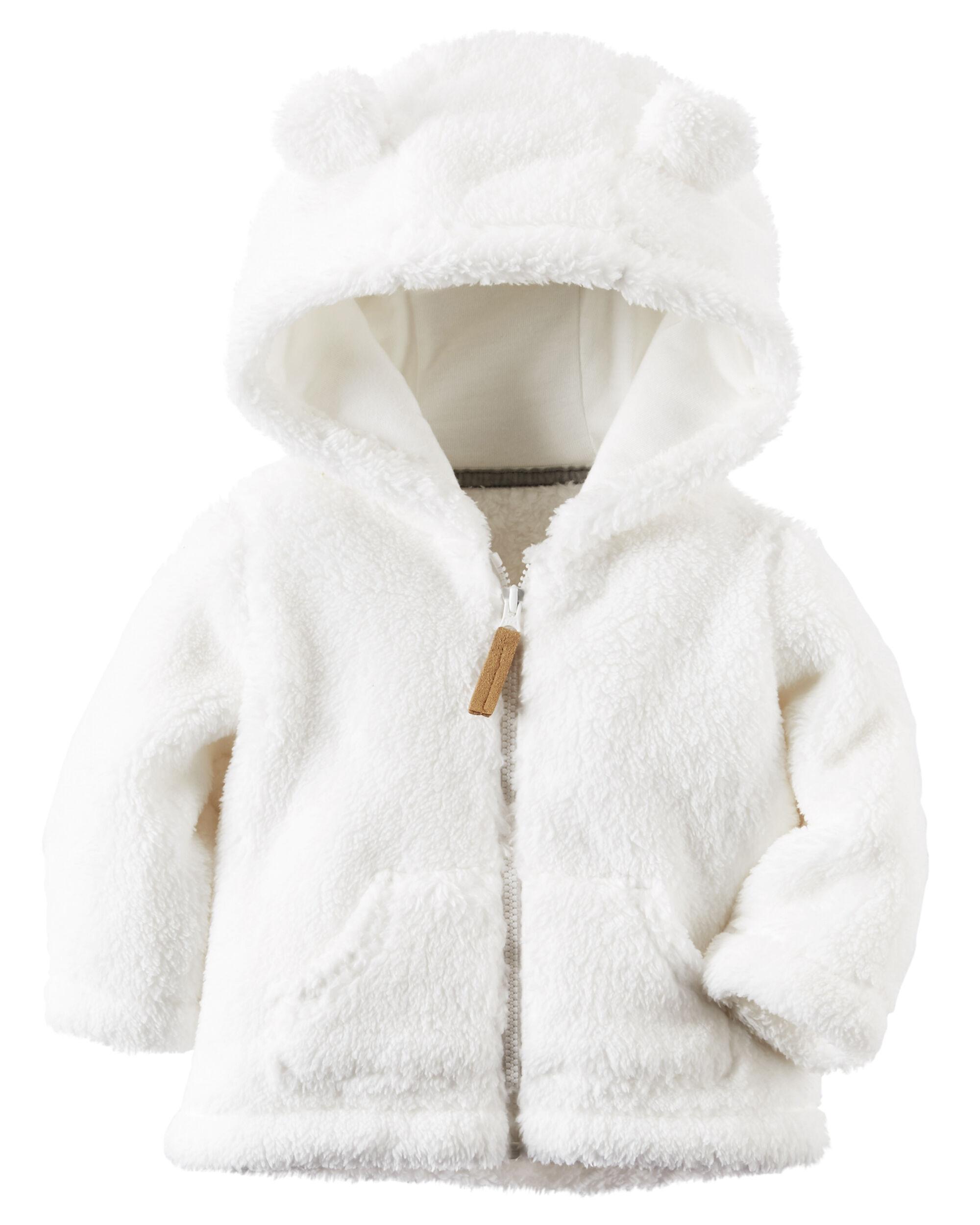 Hooded Sherpa Zip Front Jacket Carters Com