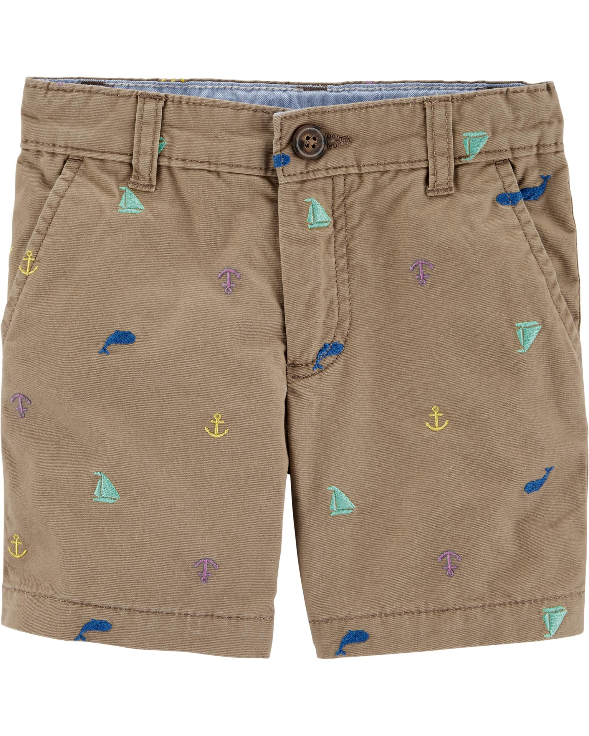 *CLEARANCE* Schiffli Flat-Front Shorts