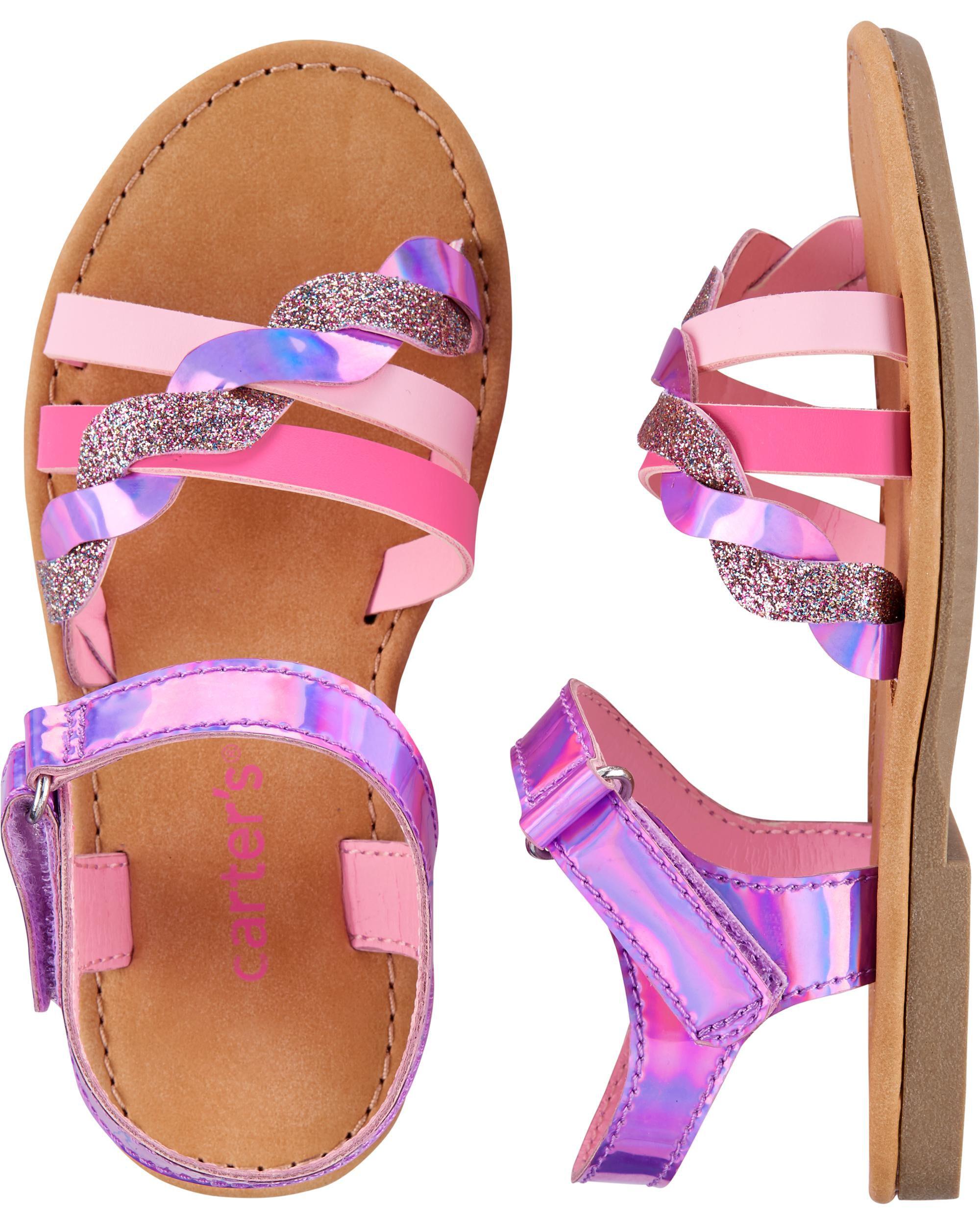 Glitter Strappy Sandals | carters.com
