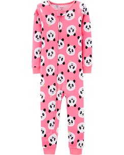 a5f4000bbf 1-Piece Panda Snug Fit Cotton Footless PJs