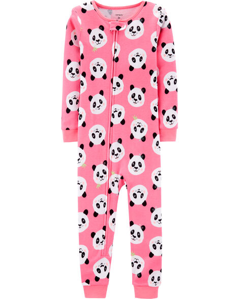 24f0378c9 1-Piece Panda Snug Fit Cotton Footless PJs | Carters.com