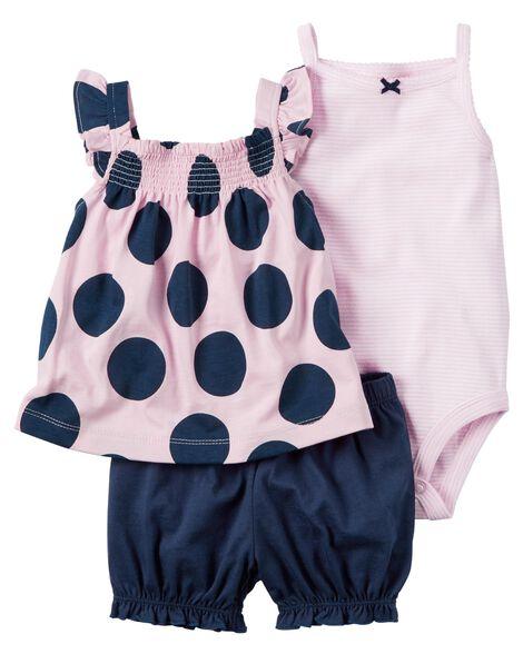 3-Piece Bodysuit & Diaper Cover Set