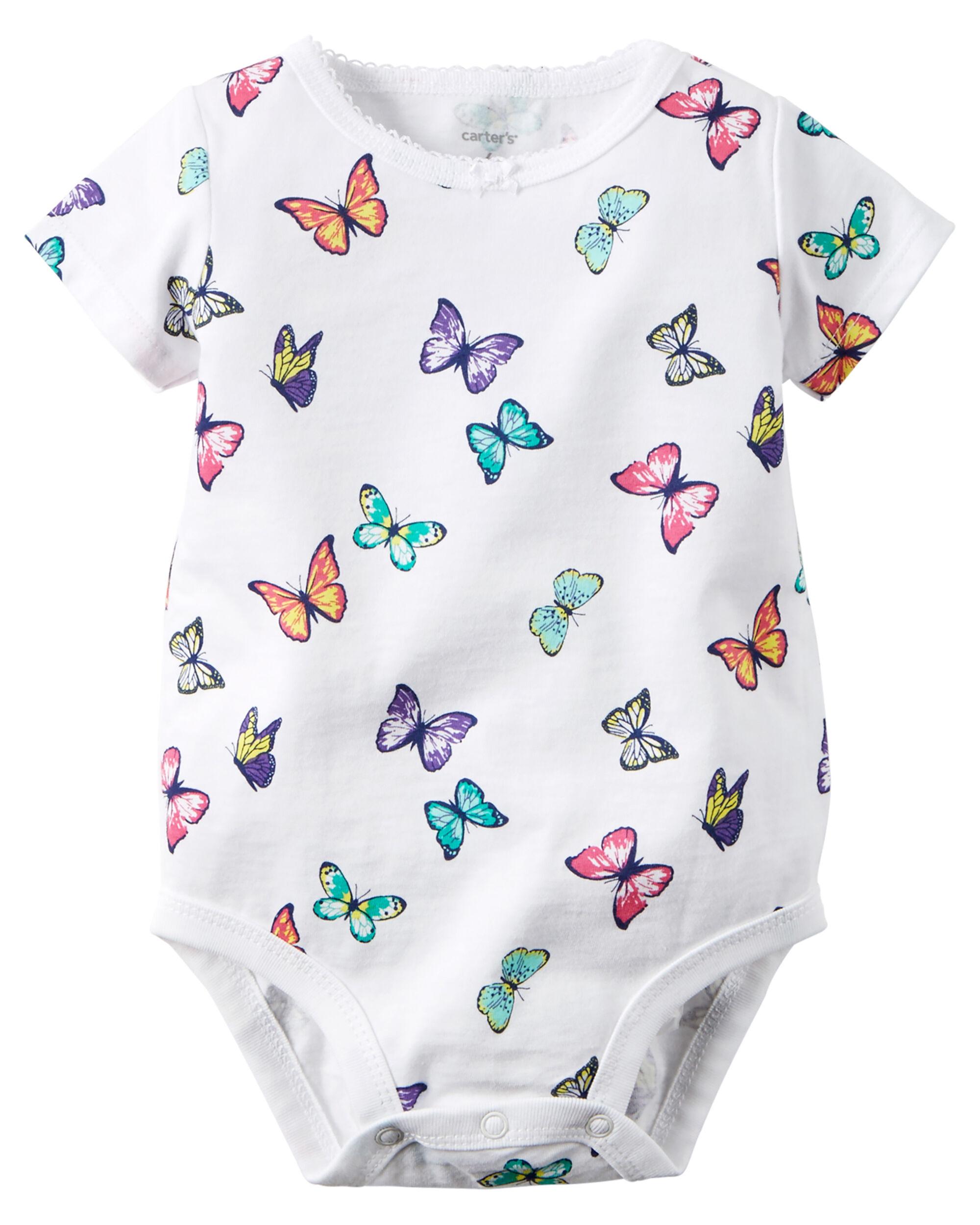 Butterfly Print Bodysuit Carters Com