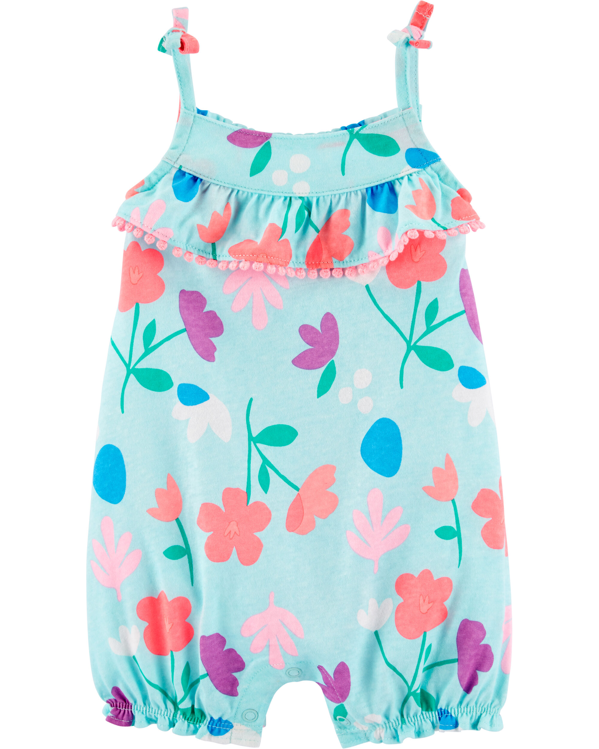 Carter/'s Baby Girls Floral Sleeveless Romper One Pc Infants New