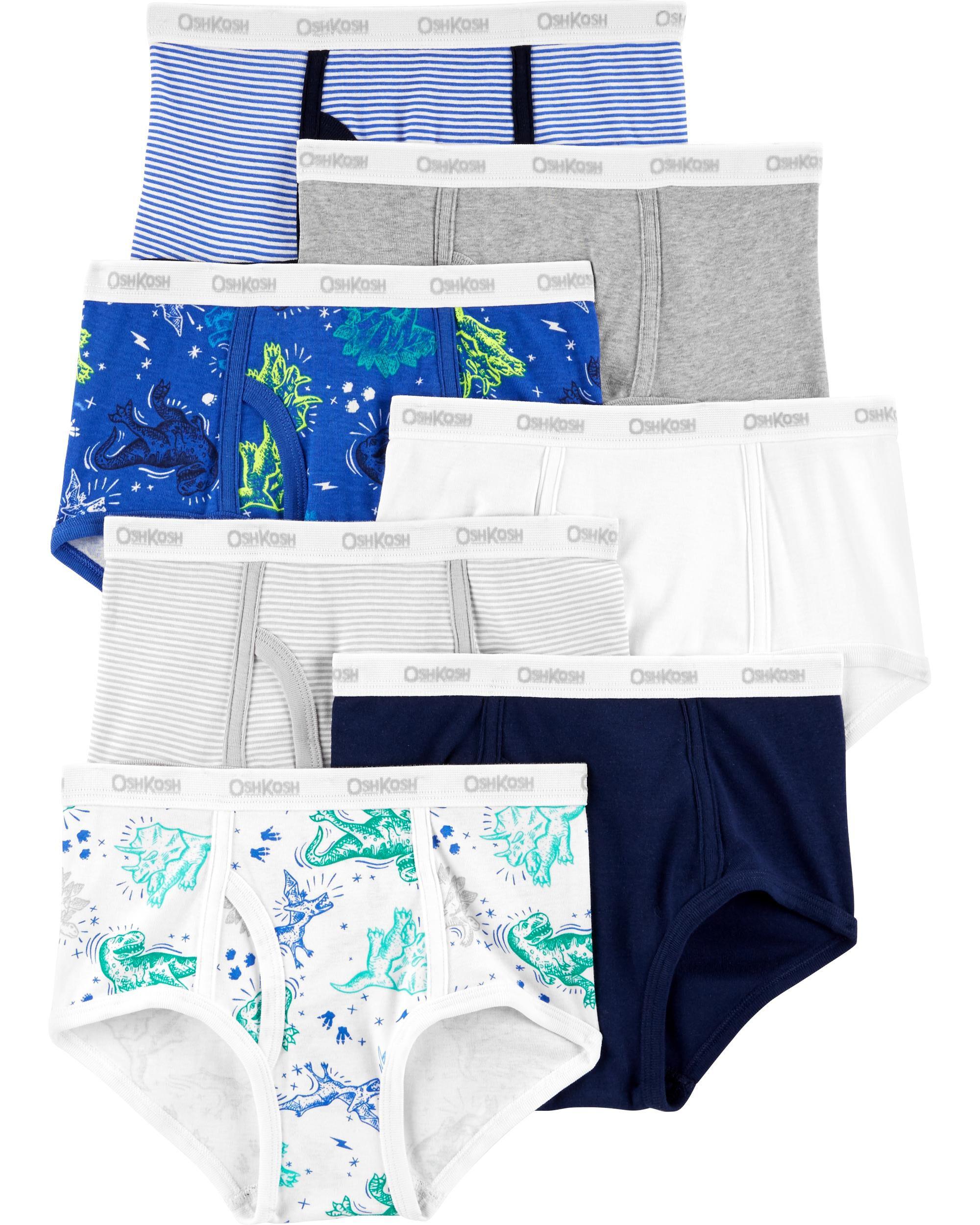 7 pack Boys pants 100/% Cotton Pattern Knickers Pants Age 2--8 .