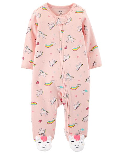1eb41752d Unicorn Zip-Up Cotton Sleep   Play