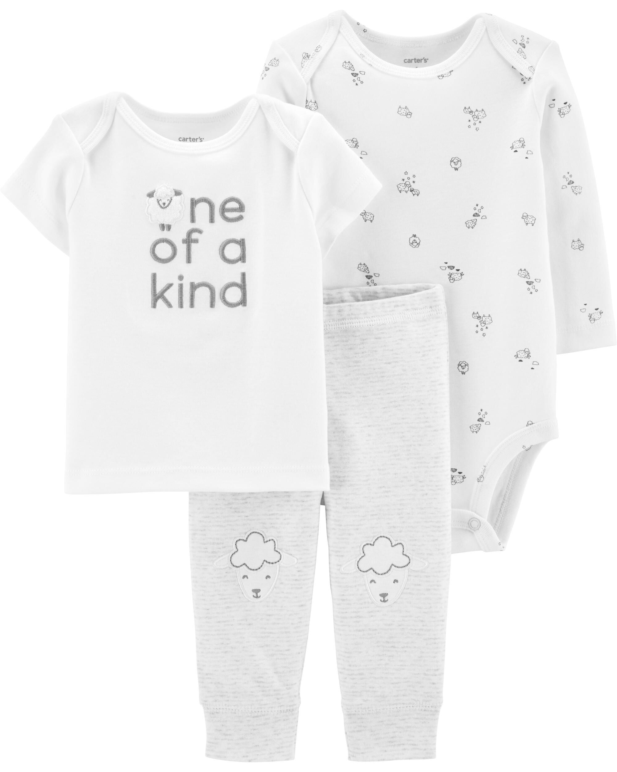 Carters Boys 2-Pc L//S Embroidery Set