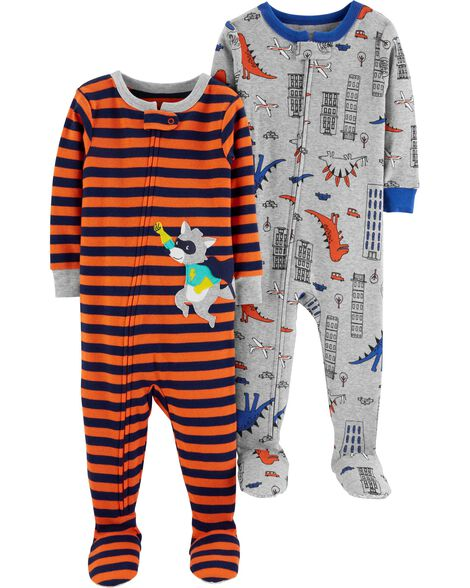 2-Pack Cotton PJs, , hi-res