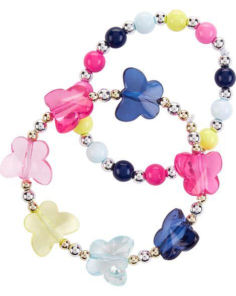 2-Pack Butterfly Bracelets
