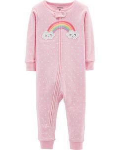 074db45ab33 1-Piece Rainbow Snug Fit Cotton Footless PJs