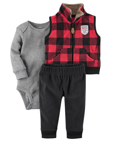 4369e7543967 3-Piece Little Vest Set