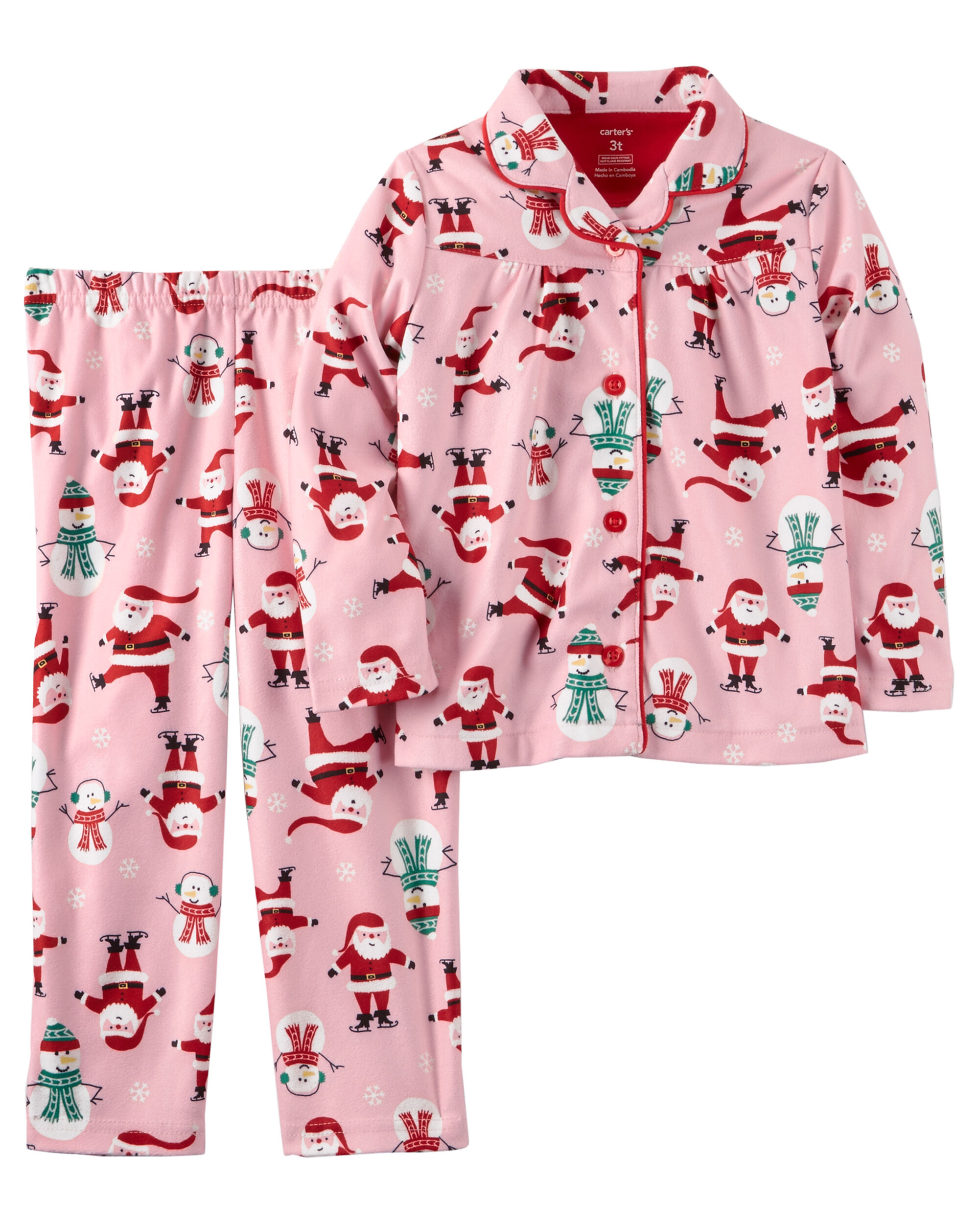 Toddler Girl Christmas Pajamas | Free Shipping | Carter's