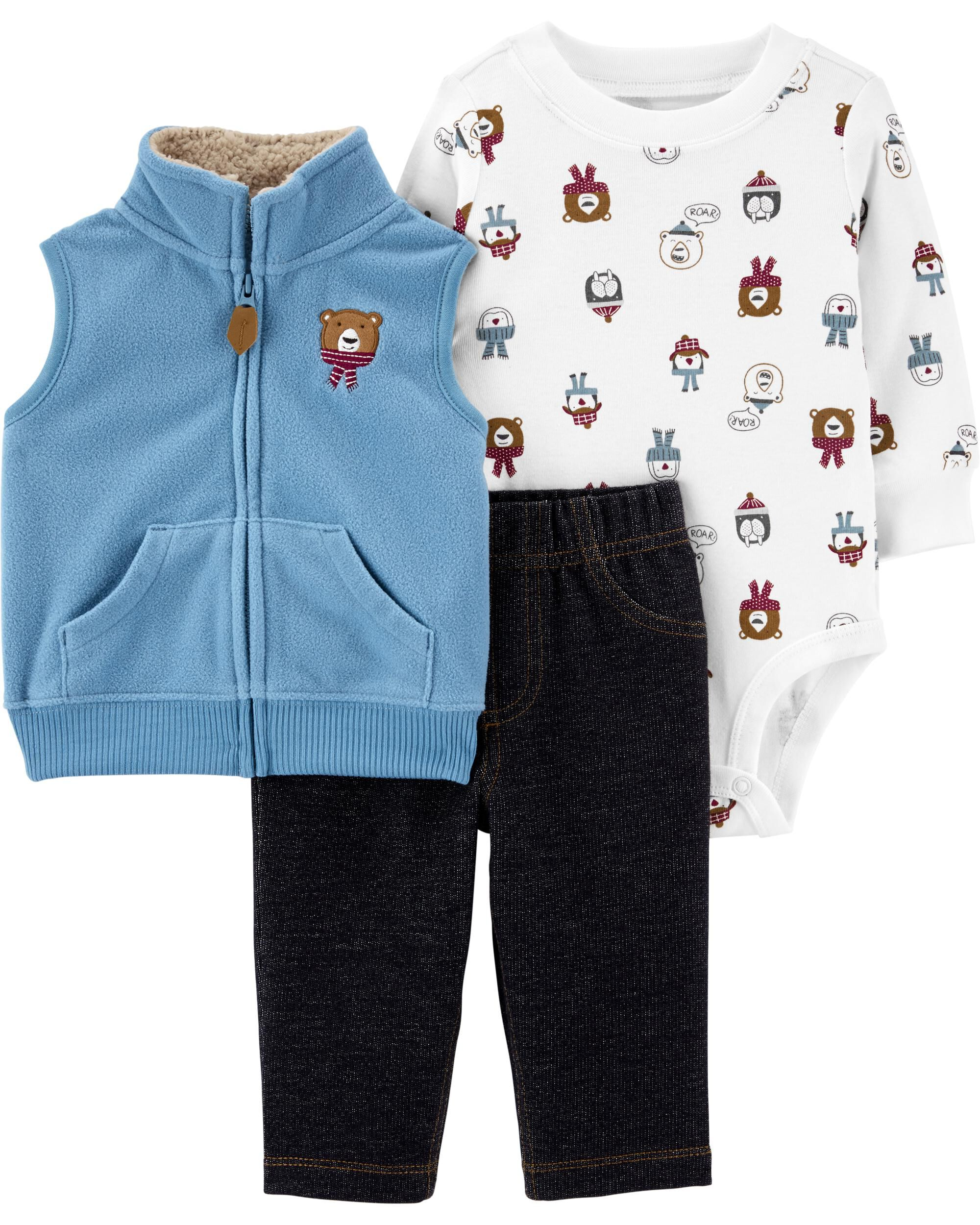 3-Piece Animal Little Jacket Set