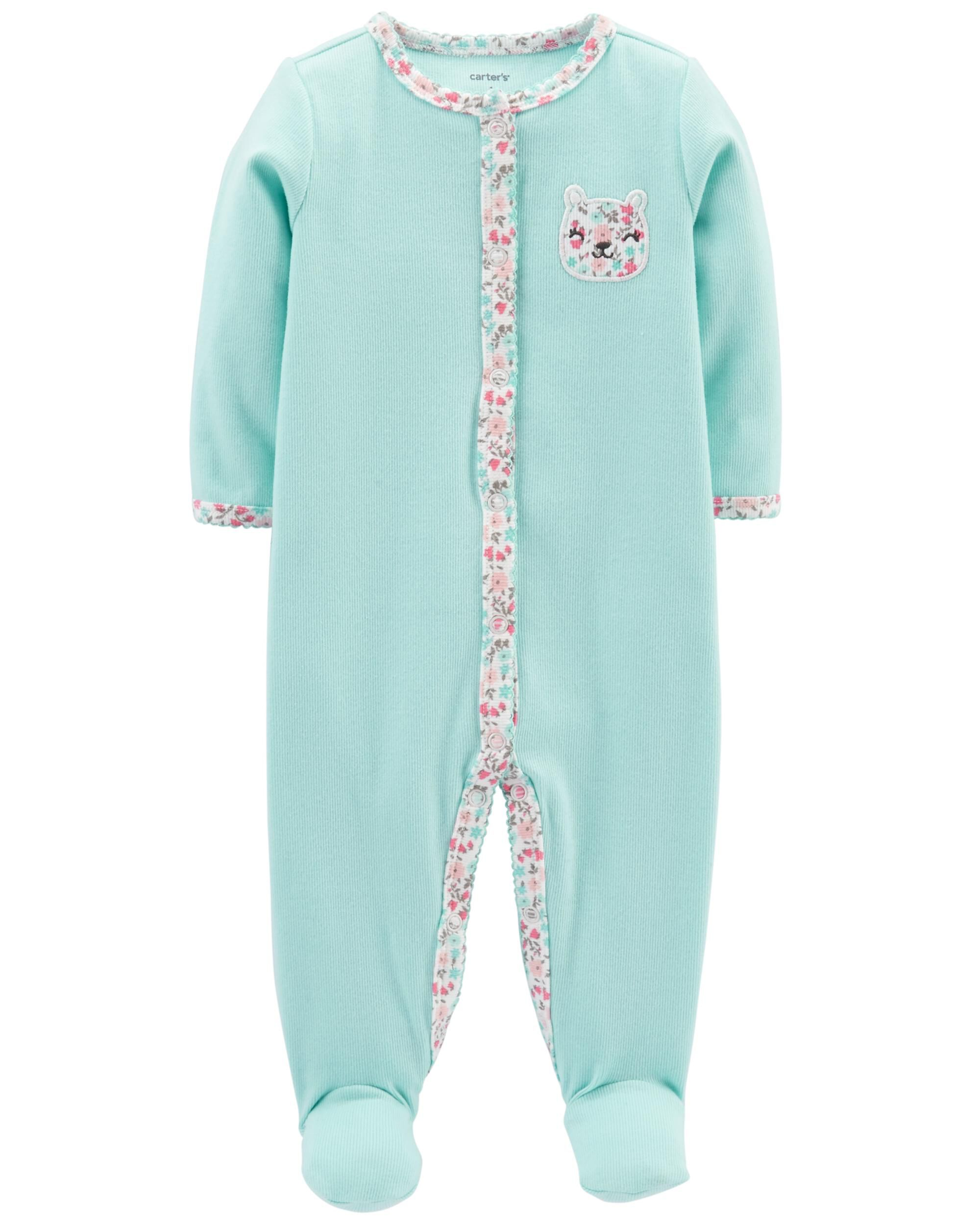 Bear Snap-Up Cotton Sleep   Play ... e053f6415