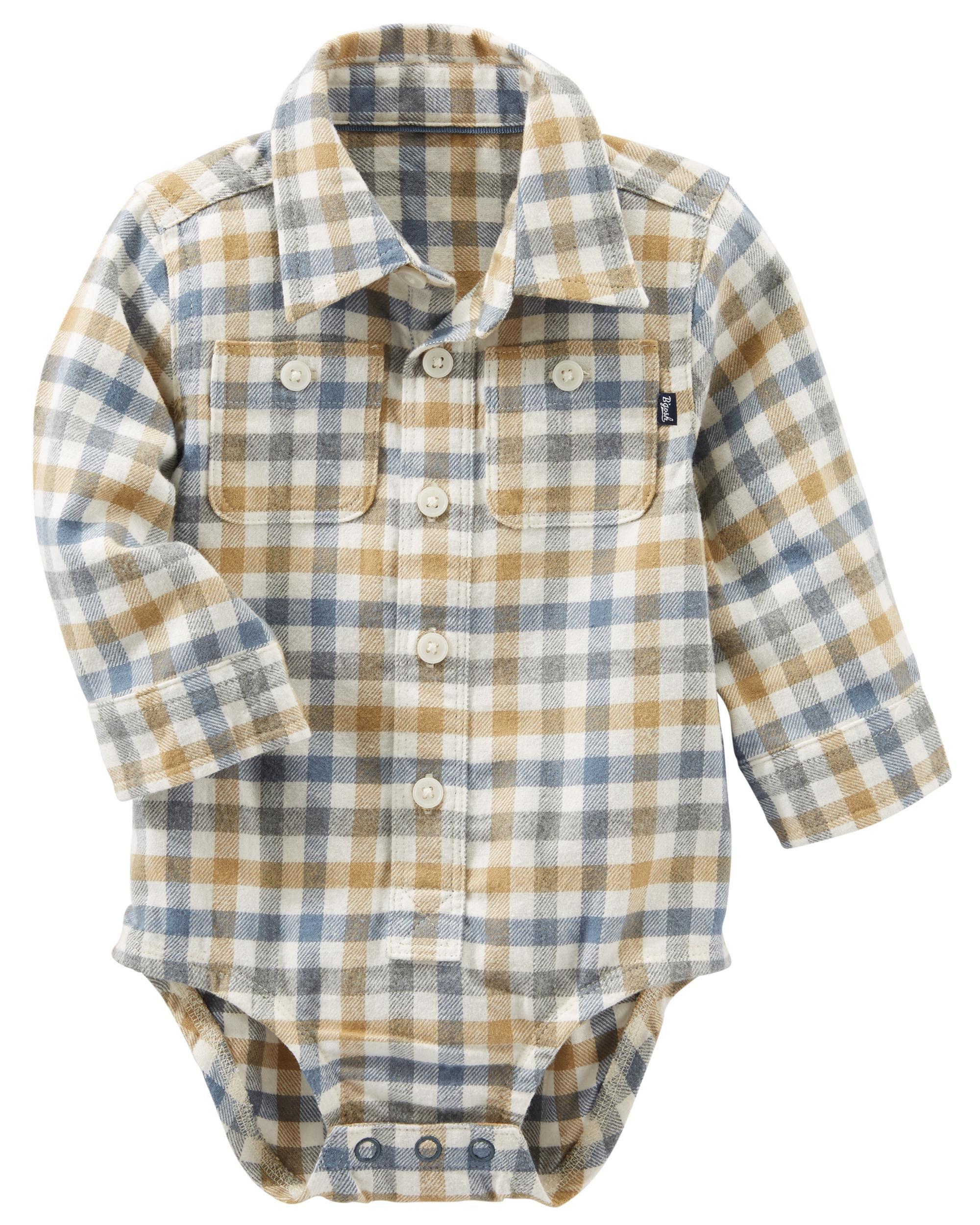Baby Boy Flannel Bodysuit
